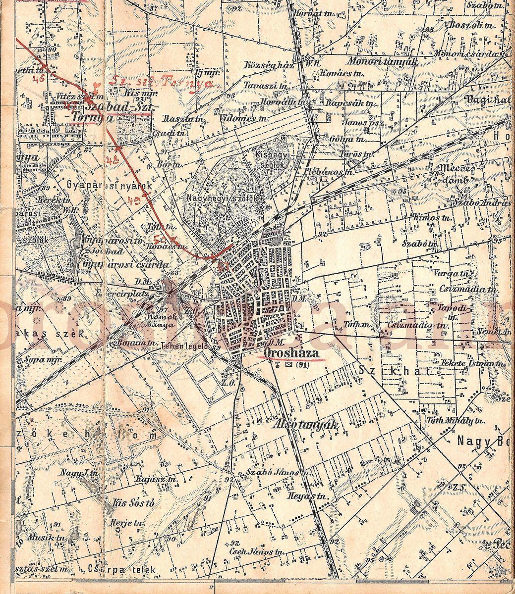 orosháza térkép Orosháza anno 1938   Orosháza régi képeslapokon orosháza térkép
