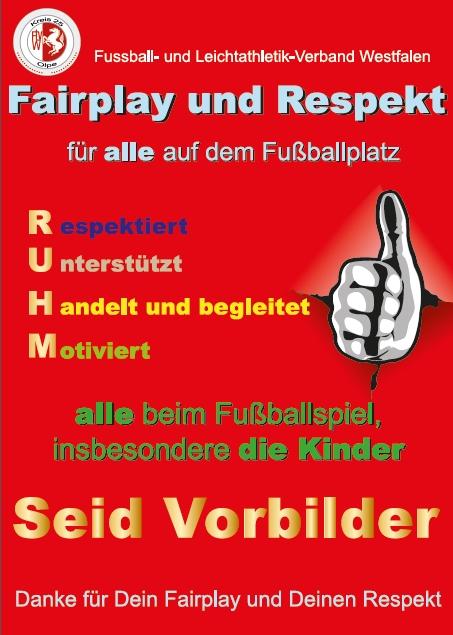 Fairplay und Respekt FVLW Olpe